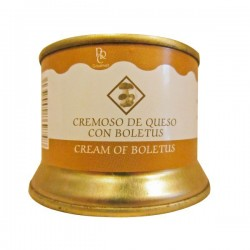 "CREMOSO DE QUESO CON BOLLETUS ""LA REAL CAROLINA"""